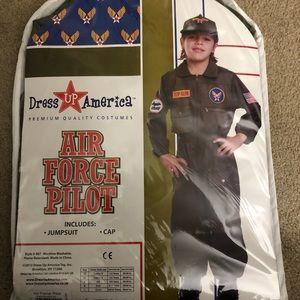 Air Force Pilot Costume Include Jumpsuit & Cap NWT
